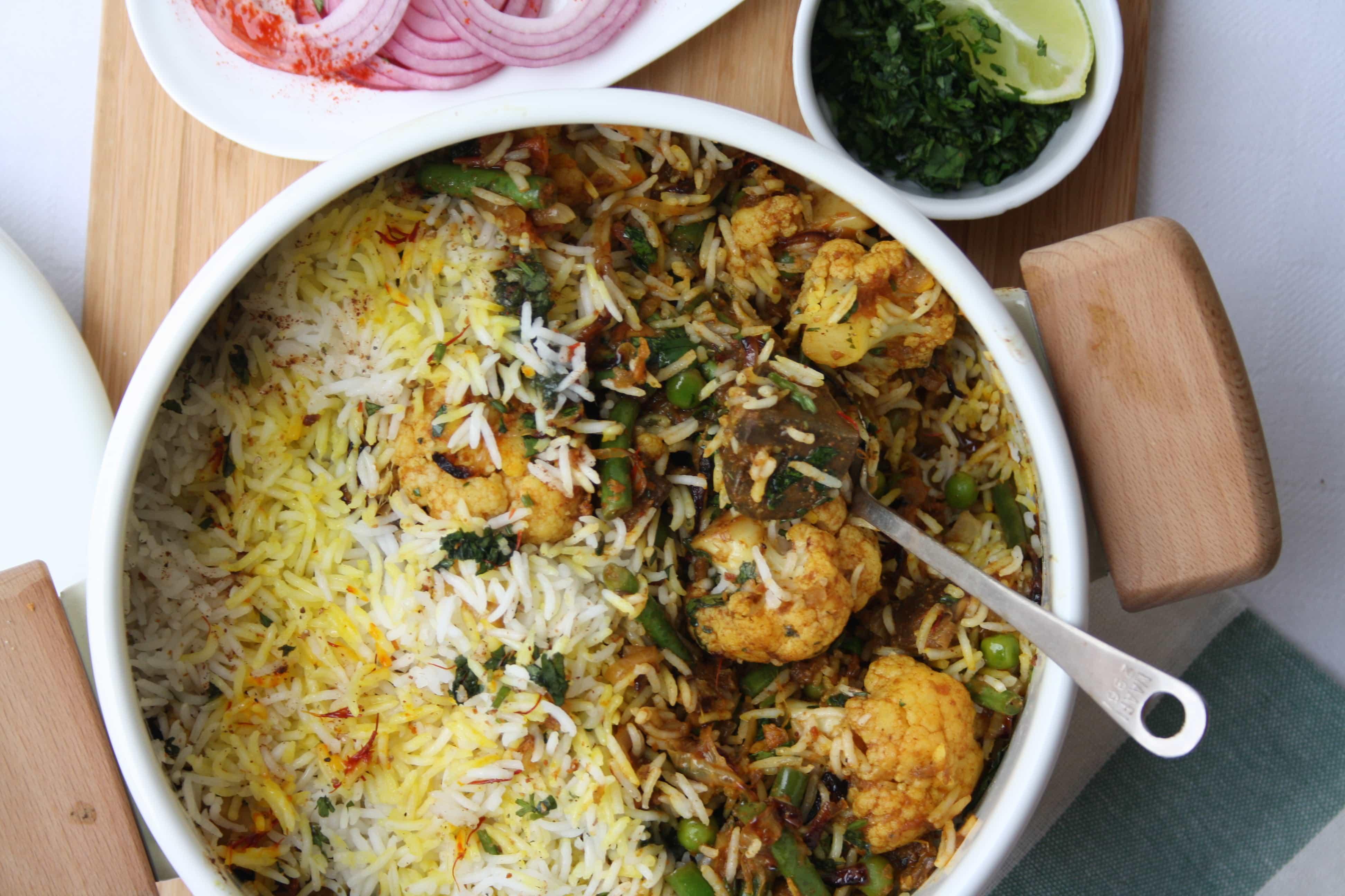 Vegetable Dum Biryani Indian Recipes Maunika Gowardhan