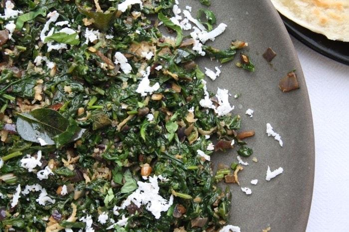 Spinach Poriyal (2)