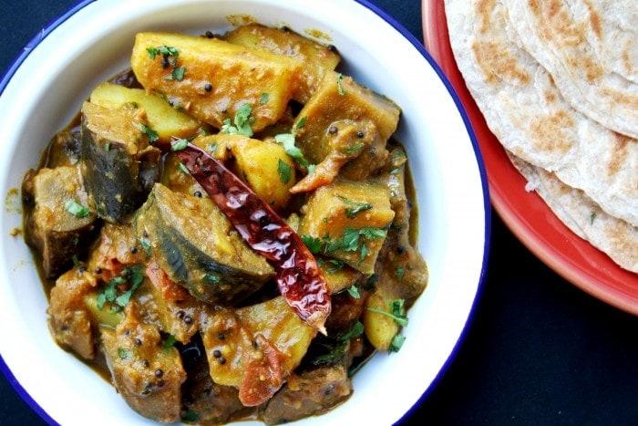 Gujarati Ringan batata nu shaak